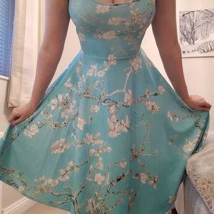 Blackmilk Almond Blossom Pocket Midi Dress L